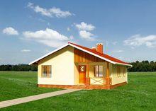 Загородный дом прямоугольной формы 12м на 9м