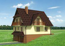 Проект жилого дома для склона