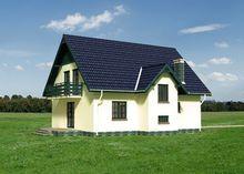 Двухэтажный загородный особняк, выполненный в классическом стиле