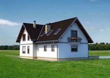 Проект строительства мансардного дома с многоскатной крышей
