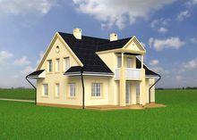 Шикарный двухэтажный особняк в классическом стиле