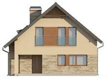 Компактный мансардный коттедж с фасадом приятного вида