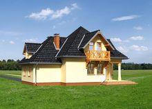Проект двухэтажного дома с необычным экстерьером