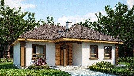 Небольшой одноэтажный дом с тремя спальнями
