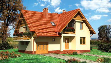План просторного особняка площадью 248 кв. м с эркером и балконами