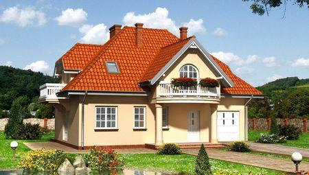 Проект двухэтажного дома на 177 кв. м с привлекательными балконами