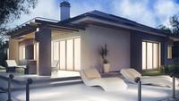 Проектдома с 3 спальнями и фронтальным удобным гаражом
