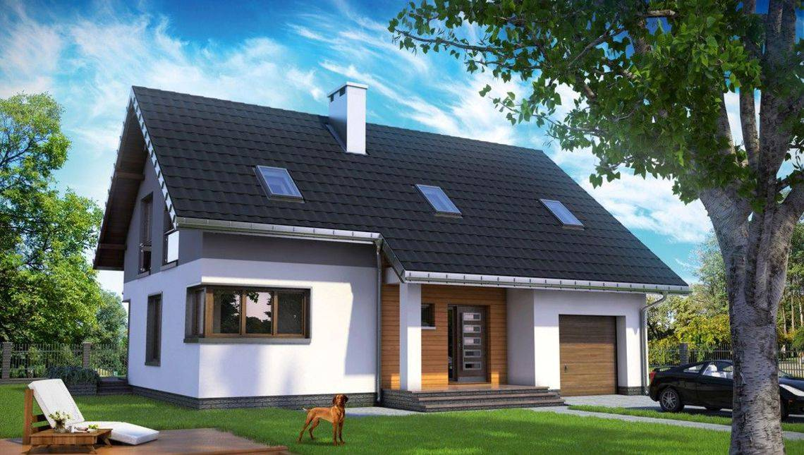 Интересный проект двухэтажного дома с площадью 170 m²