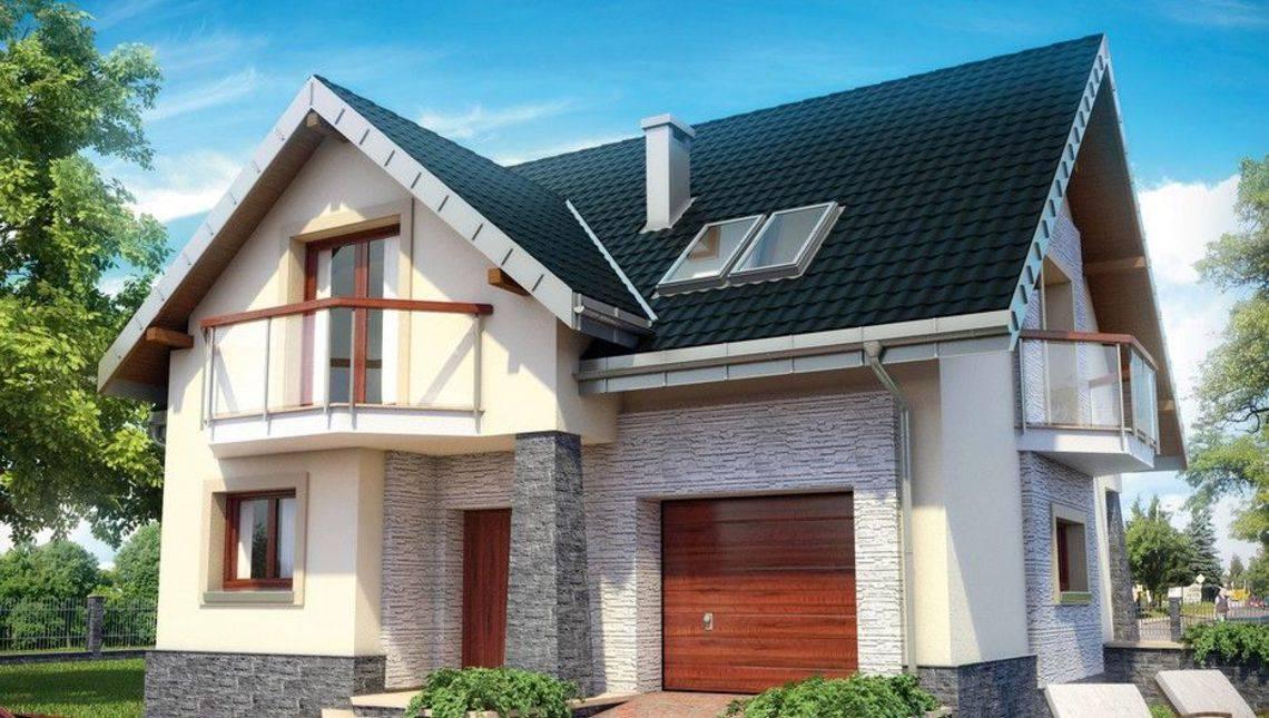 Надежный загородный дом с гаражом и мансардным этажом