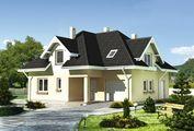 Архитектурный проект стильного дома с четырьмя комнатами