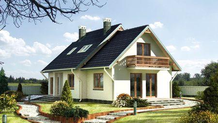 Небольшой загородный дом с площадью 150 m²
