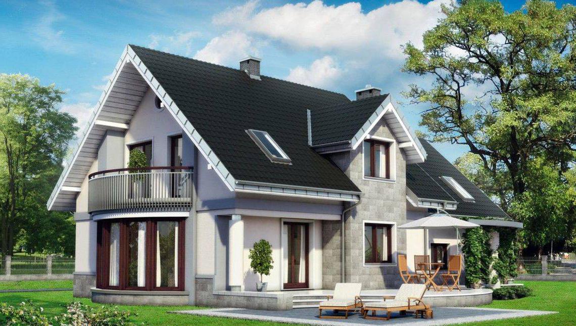 Красивый загородный дом с двойным гаражом