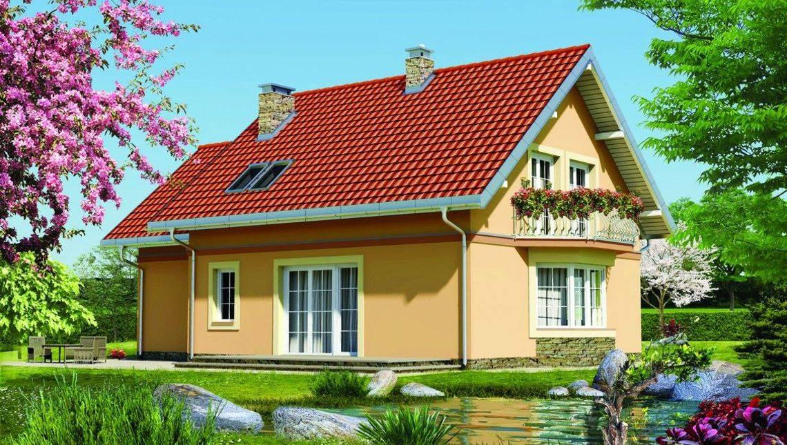 Уютный загородный коттедж с лоджией и балконом
