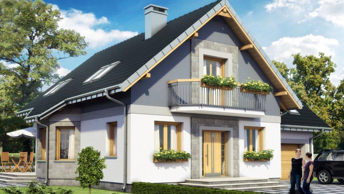Небольшой особняк с мансардой 11 на 9 площадью более 200 m²