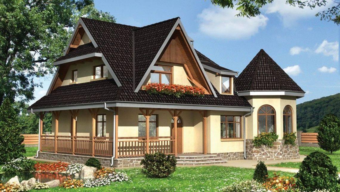 Проект небольшого дома с интересным дизайном