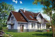 Проект двухэтажного дома, выполненного в классическом стиле