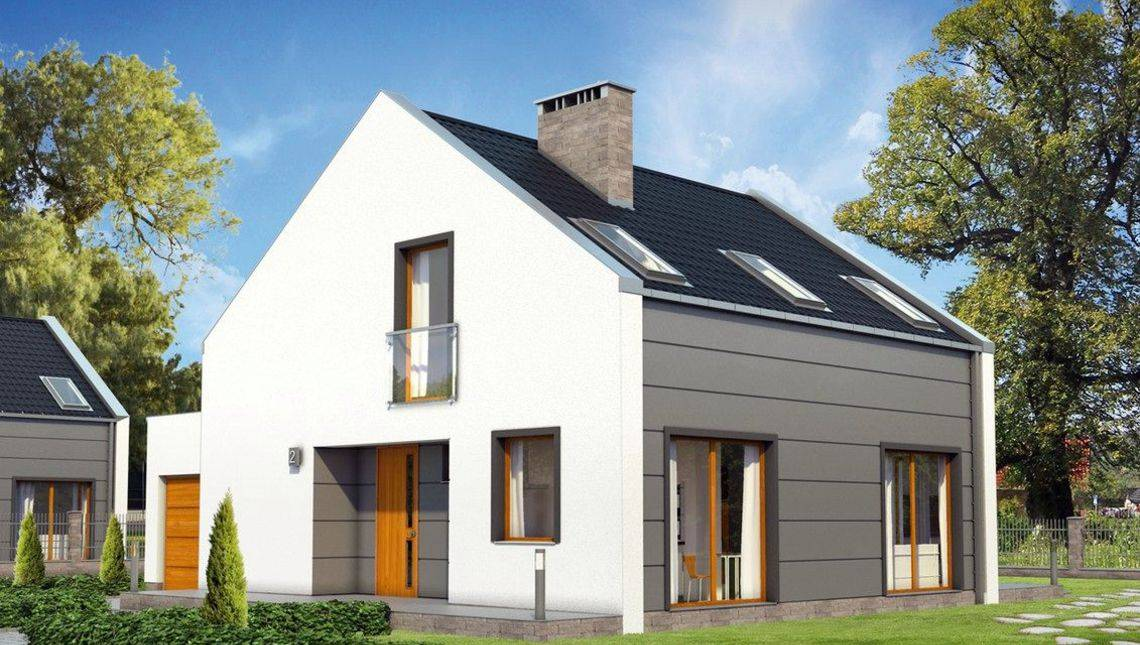 План двухэтажного дома современной планировки