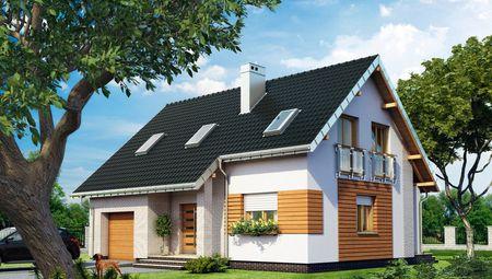 Двухэтажный жилой дом на четыре спальни