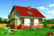Двухэтажный симпатичный дом площадью 120м2