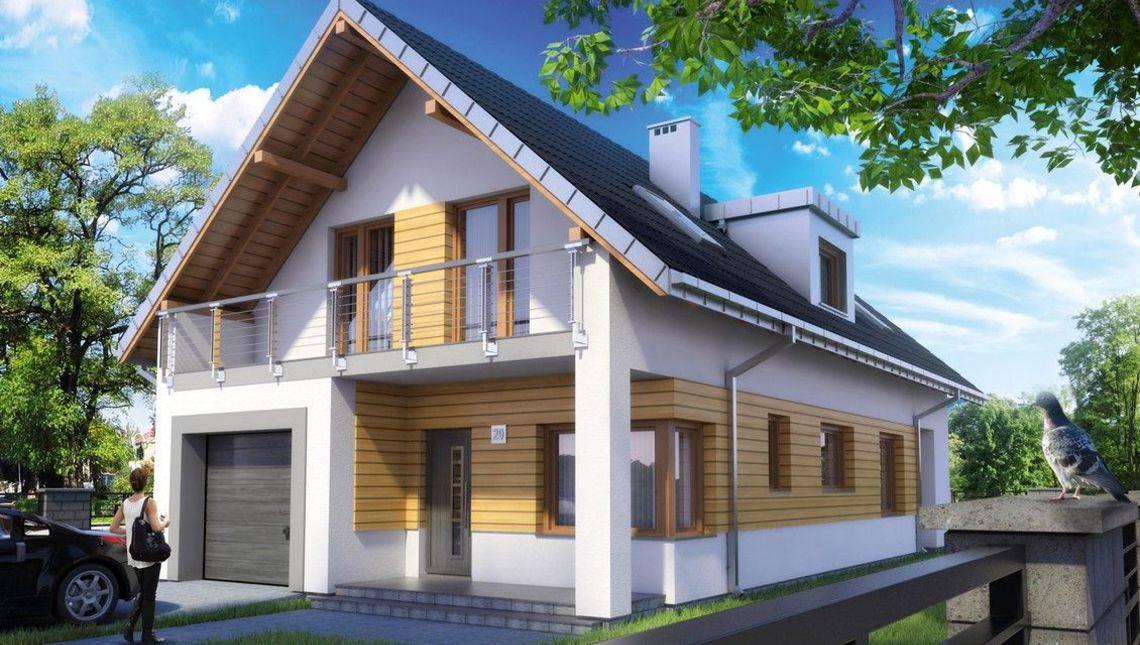 Современный двухэтажный дом со стильными стеклянными балконами