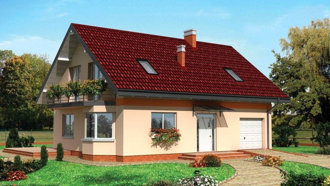 Красивый дом с мансардой для небольшой семьи