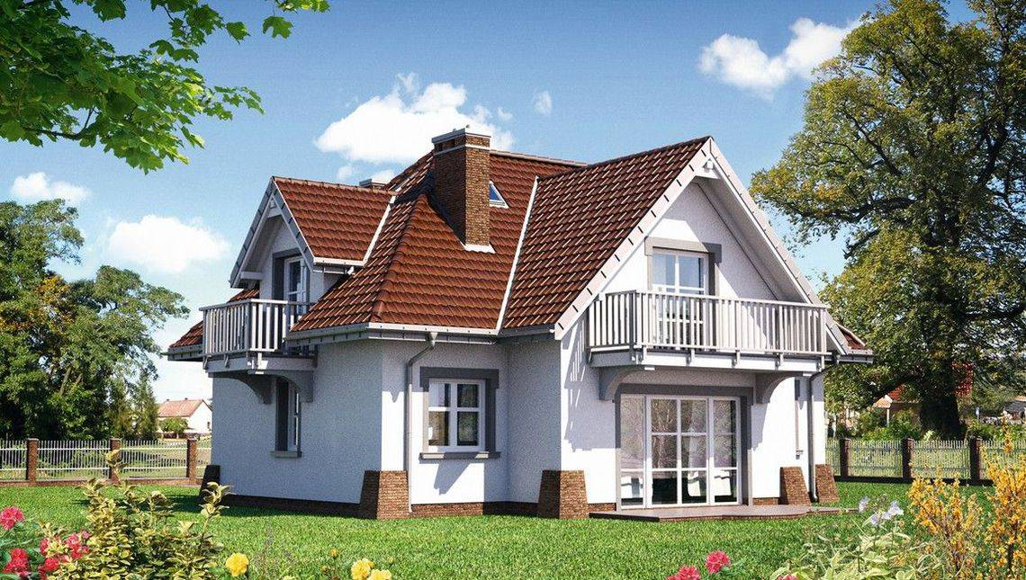 Великолепный загородный дом с мансардой