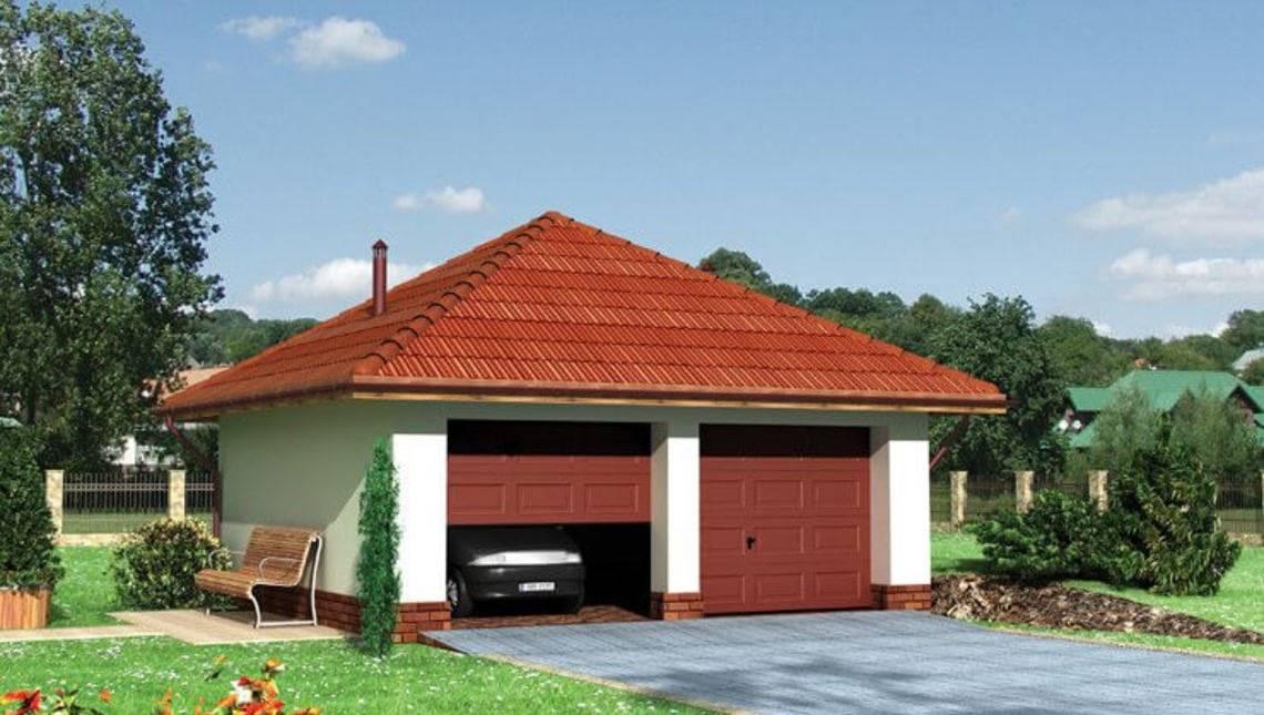 Проект гаража для двух автомобилей