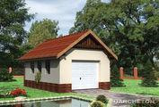 Проект гаража с двускатной крышей