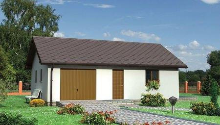 Архитектурный проект здания с гаражом и душем