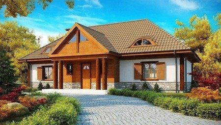 Проект коттеджа в ретро стиле с четырехскатной крышей