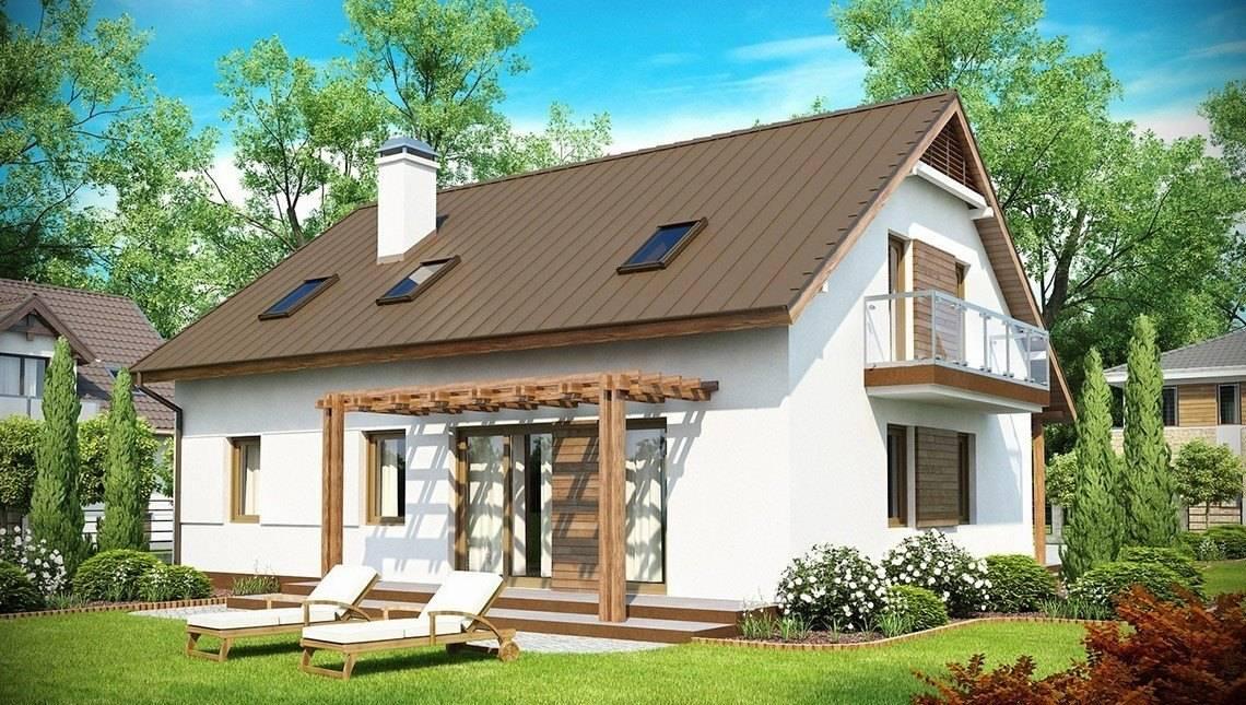 Проект мансардного дома с дополнительной спальней на 1 этаже