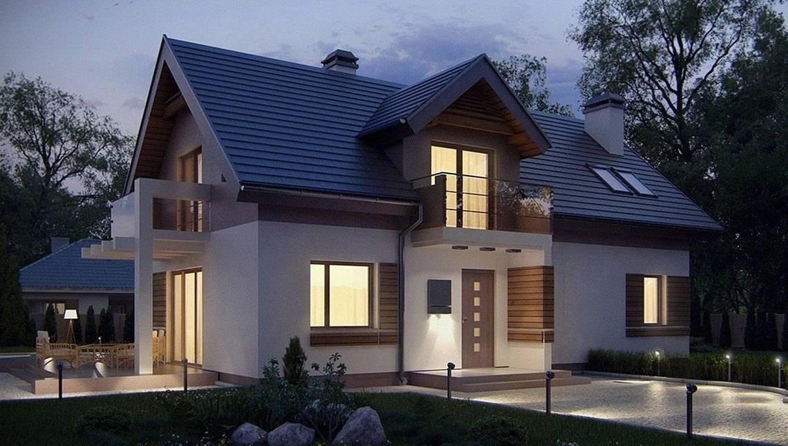Проект мансардного дома с запоминающимся фасадом