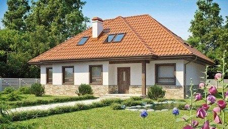 Большой дачный дом с мансардой