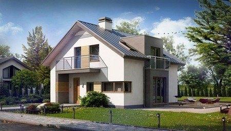 Проект симпатичного дома 8 на 9 с мансардой