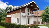 Проект двухэтажного небольшого дома, адаптированного под узкий участок