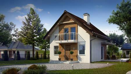 Проект малогабаритного дачного дома с удобной мансардой