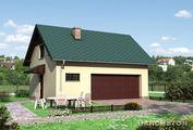 Архитектурный проект мансардного гаража