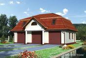Проект трехместного гаража с эксплуатационным чердаком и санузлом
