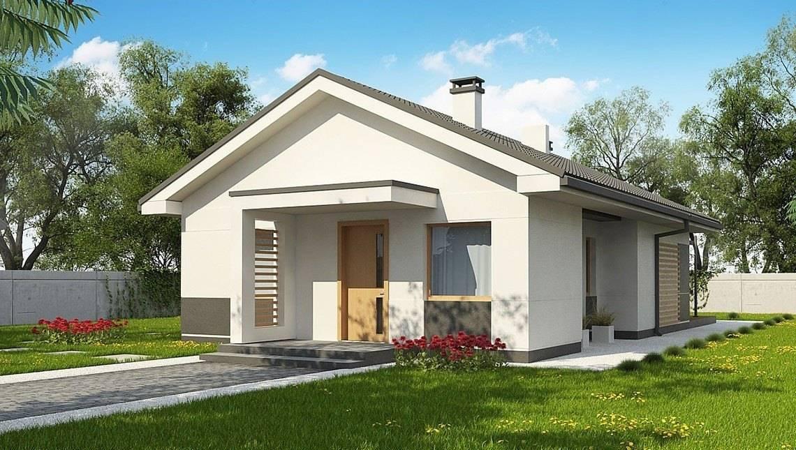 Аккуратный проект компактного одноэтажного дома