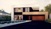 Проект загородного двухэтажного коттеджа с плоской кровлей