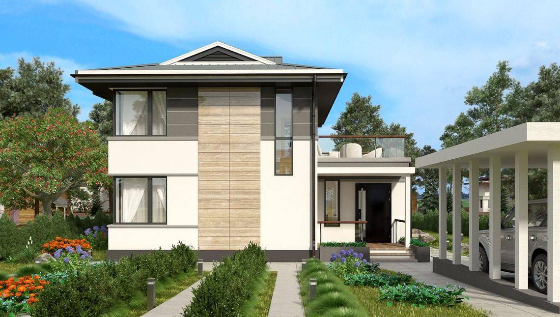 Стильный особняк в классическом стиле с двумя балконами