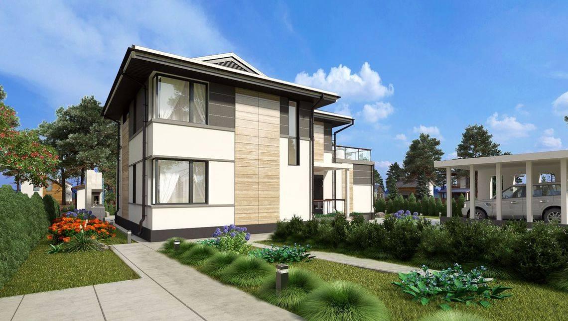 План шикарного загородного дома с просторной зоной отдыха