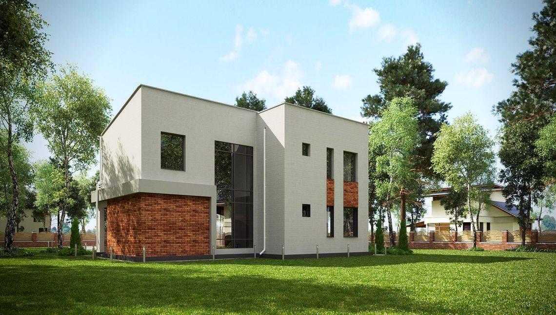 Проект особняка в стиле конструктивизма с четырьмя спальнями