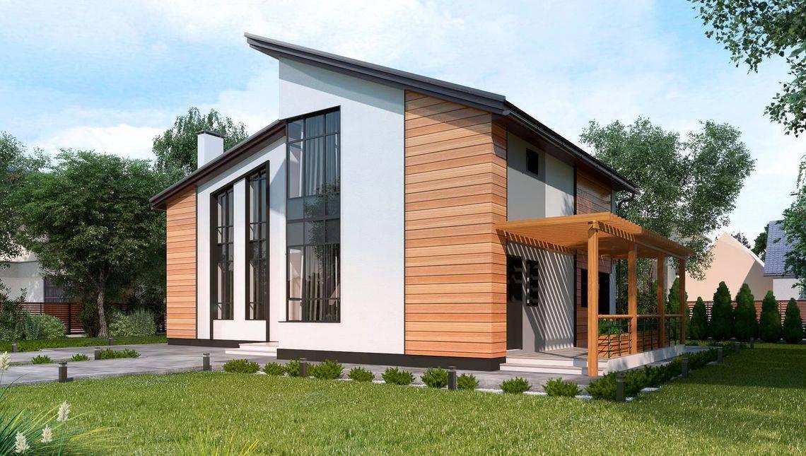 Проект стильного двухэтажного дома площадью 220 м2