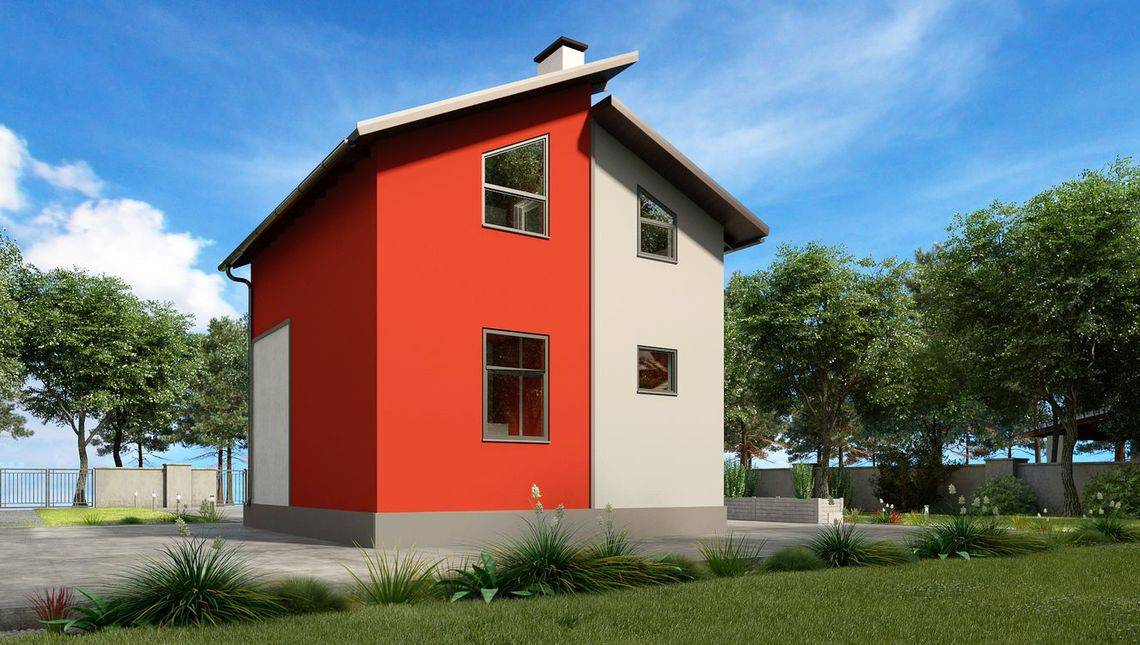 Компактный дом для небольшого загородного участка
