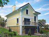 Проект для строительства классического двухэтажного особняка для наклонного участка