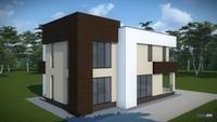 Архитектурный проект двухэтажного дома с плоской крышей