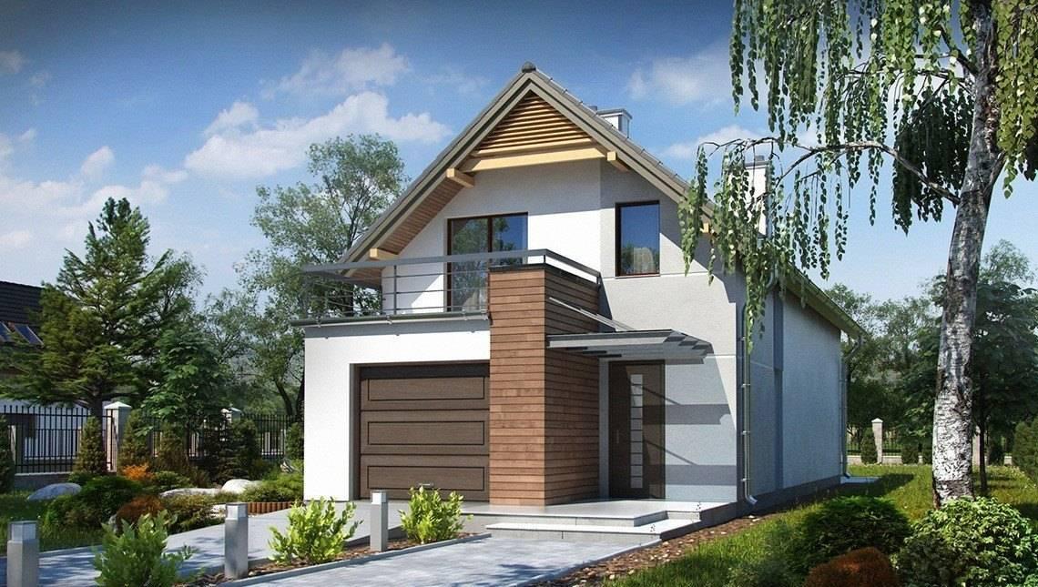 Проект особняка с гаражом для узкого участка
