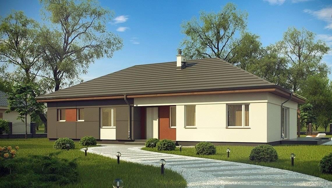 Классический одноэтажный дачный дом
