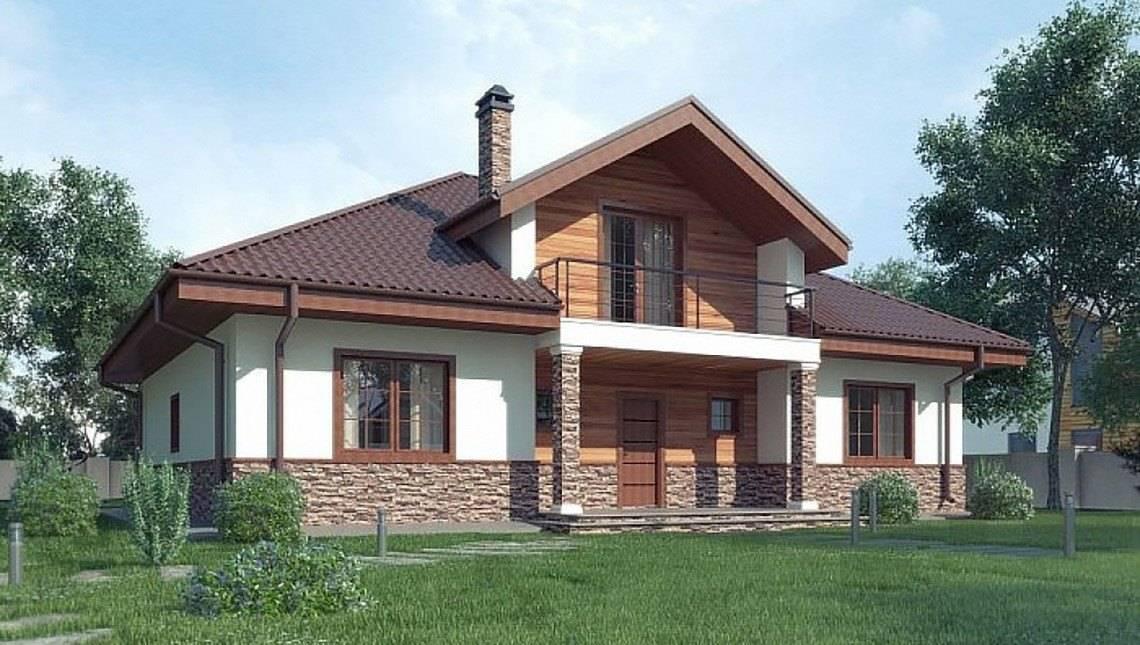 Симпатичный домик с мансардой